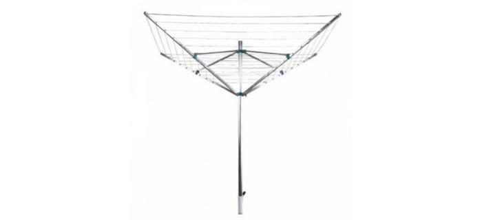 Séchoir Parapluie 50 mètres  FRANDIS  - Séchoir à Linge Jardin Extérieur Alu - Corde à linge Plein Air - 180 x 190 x H.180 cm