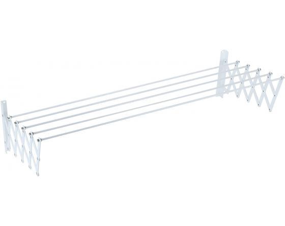 Sauvic 89788 Séchoir à Linge Extensible plastifié Blanc 70 cm, Métal