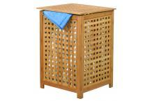 Coffre à linge bambou MSV - L. 40 x P. 40 x H.58 cm