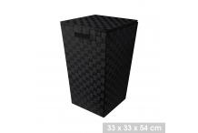 Lot 2 panier de rangement Noir 50 litres avec couvercle - L. 33 x l. 33 x H. 54 cm