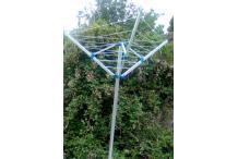 Séchoir Parapluie 3 Branches sans Douille  30 M  - Séchoir à Linge Jardin Extérieur Alu 30 mètres - Étendoir à Linge Corde à linge Plein Air - 130 x H.180 cm