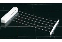 Séchoir à linge étirable  5  fils  - séchoir mural - étendoir mural - séchoir à linge fil extensible  21 M
